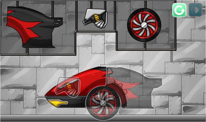 game siêu xe biến hình