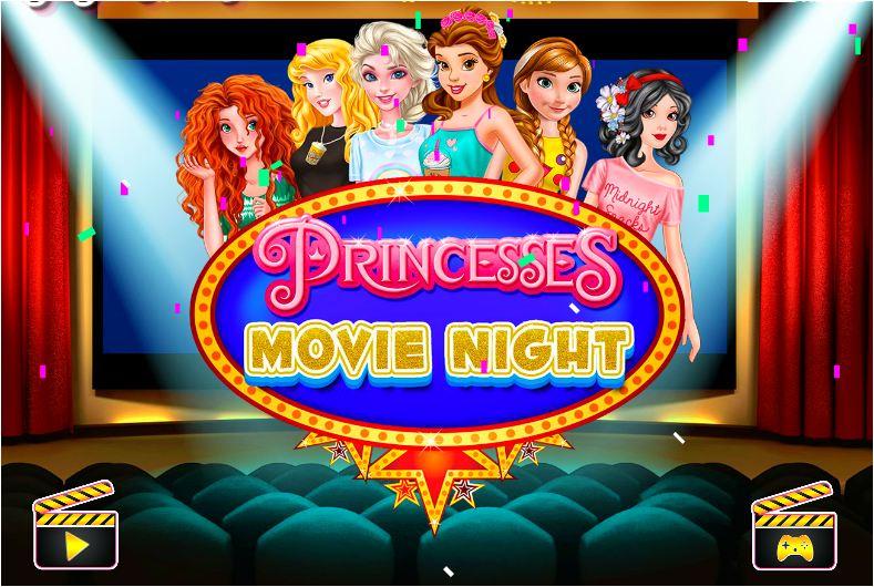 chơi game công chúa đi xem phim