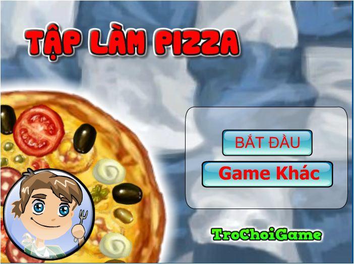 chơi game tập làm piza